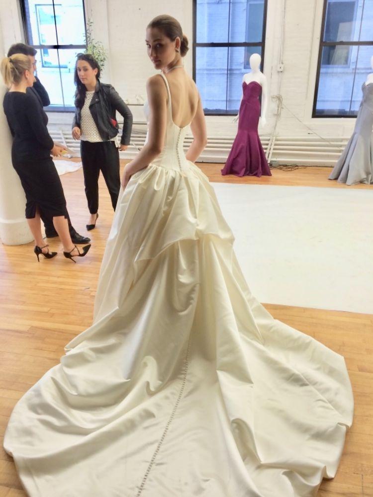 Truly Zac Posen Wedding Dress Satin Ballgown Size 0 Unaltered New W Tags Zac Posen Wedding Dress Vivienne Westwood Wedding Dress Satin Wedding Dress Ballgown