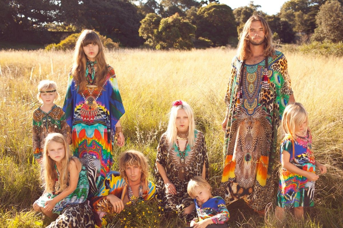 Bohemian hippie family - LOVE the colors