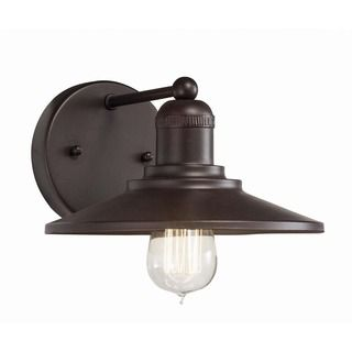 Transitional 1 Light Architectural Bronze Wall Sconce