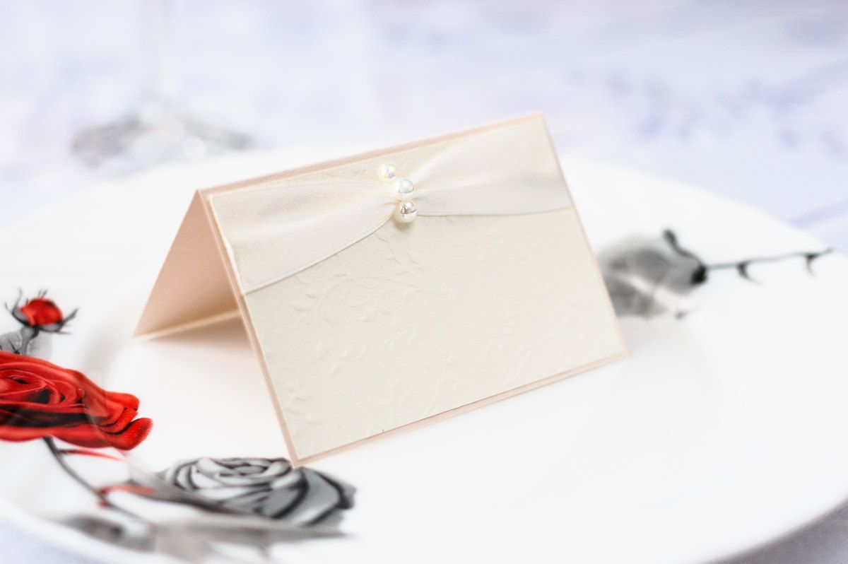 Tender place cards Wedding place cards Gentle place cards Ivory ...