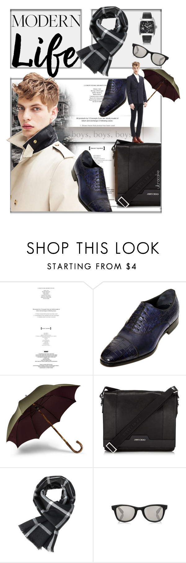 """""""Modern Life"""" by ultracake ❤ liked on Polyvore featuring DAMI, Sandro, Jimmy Choo, TheLees, Tag Heuer, modern, women's clothing, women's fashion, women and female"""