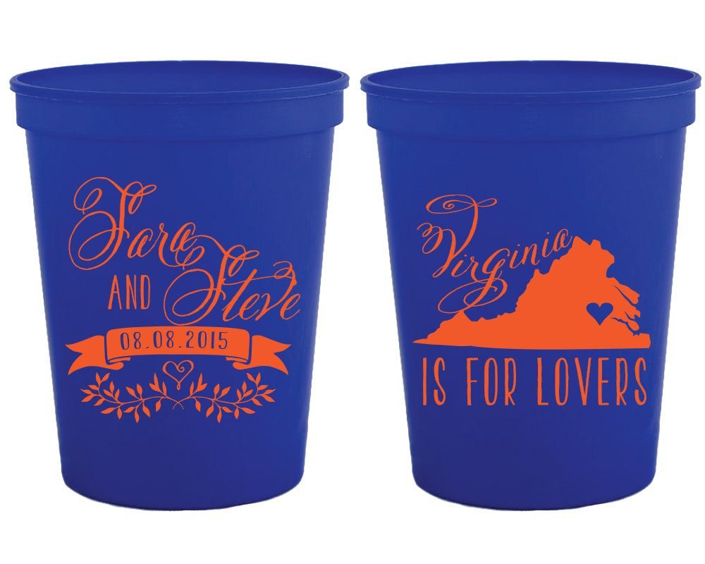 New To Siphiphooray On Etsy Virginia Is For Lovers Wedding Cups