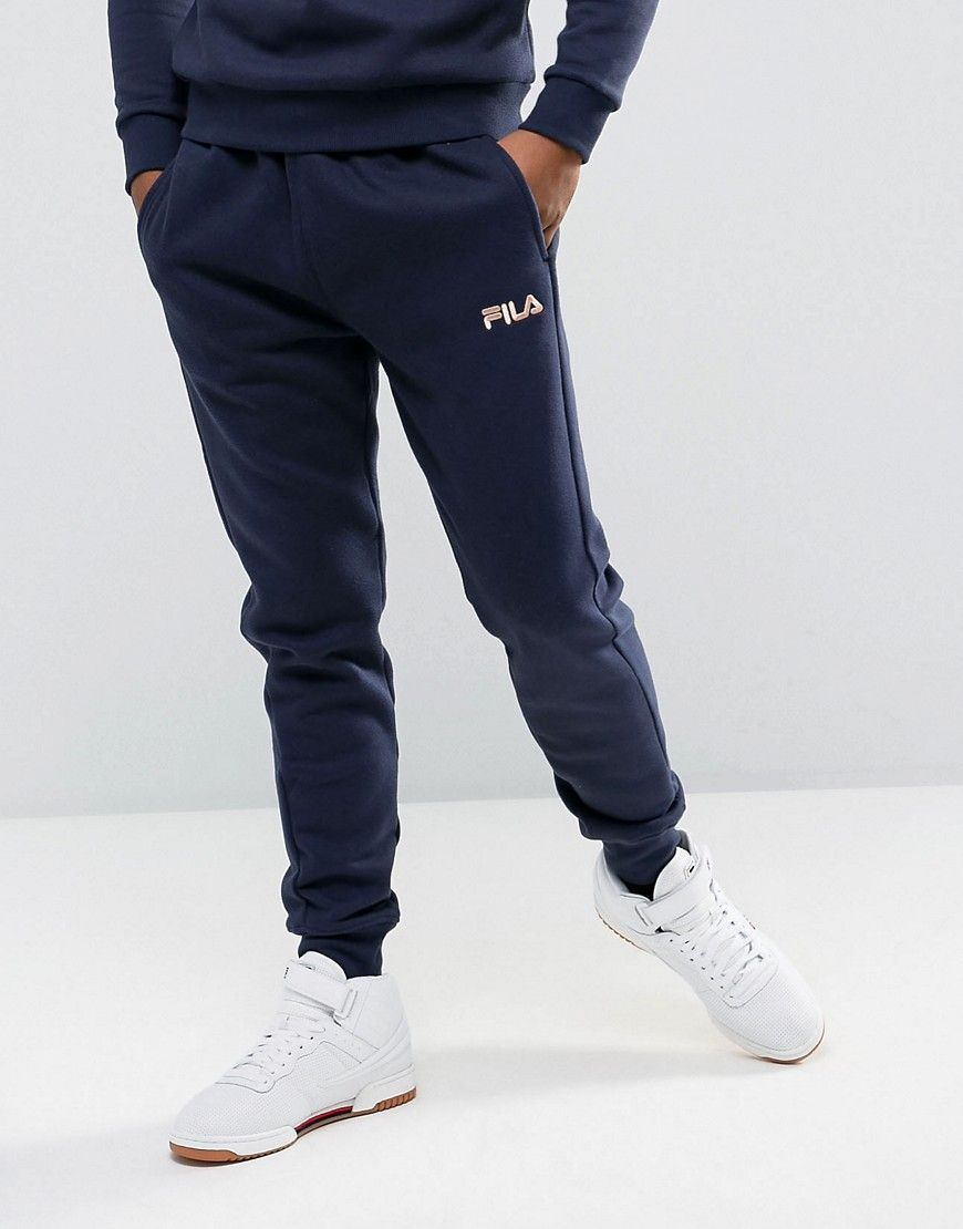 d21e59a034e2 FILA VINTAGE SKINNY JOGGERS WITH SMALL LOGO - NAVY.  fila  cloth ...