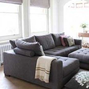 This Is Kind Of Like That Gray Sectional At Macy S Would Look Good With The Light Blue Armcha Tufted Sectional Grey Sectional Sofa Gray Sectional Living Room