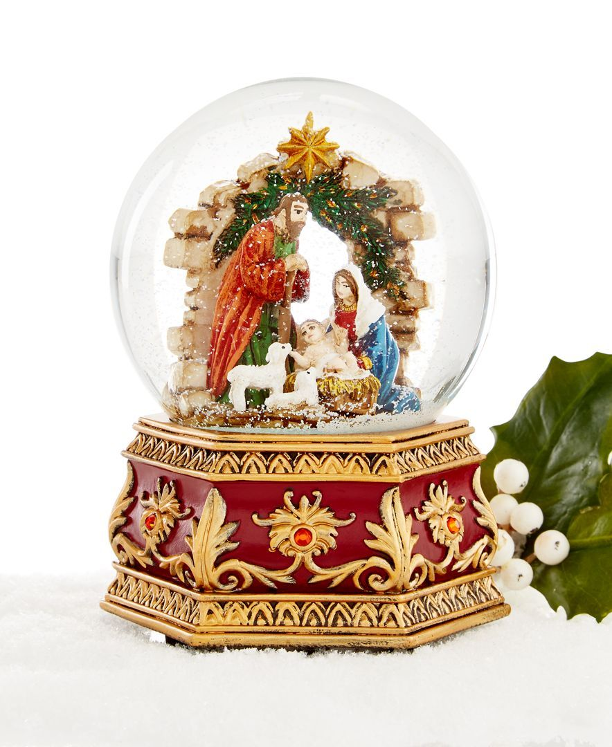 Holiday Lane Nativity Musical Snow Globe Only At Macys