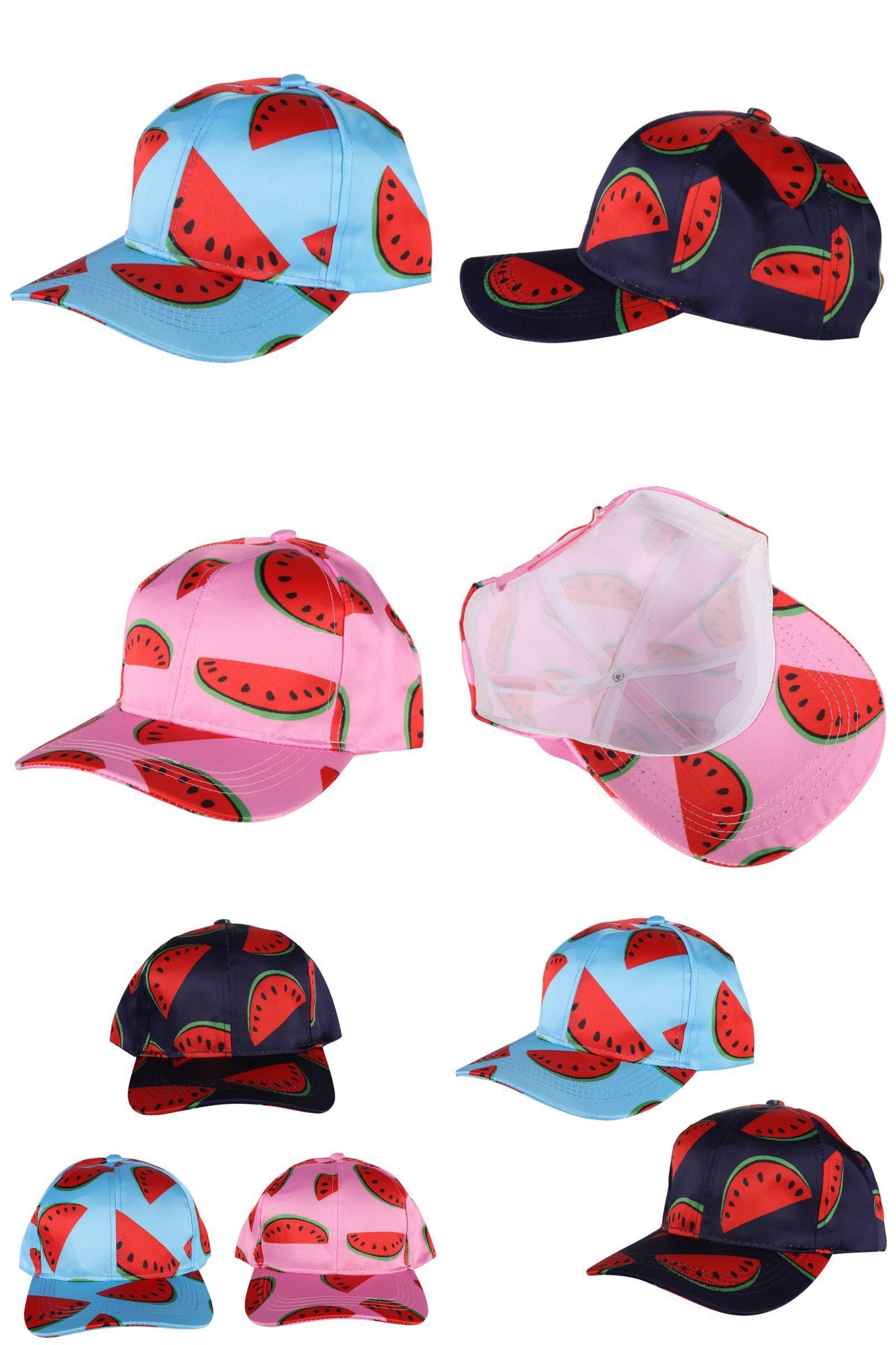 81404850e56  Visit to Buy  New Summer Watermelon Printed Baseball Caps Unisex Women Men  Hip Hop
