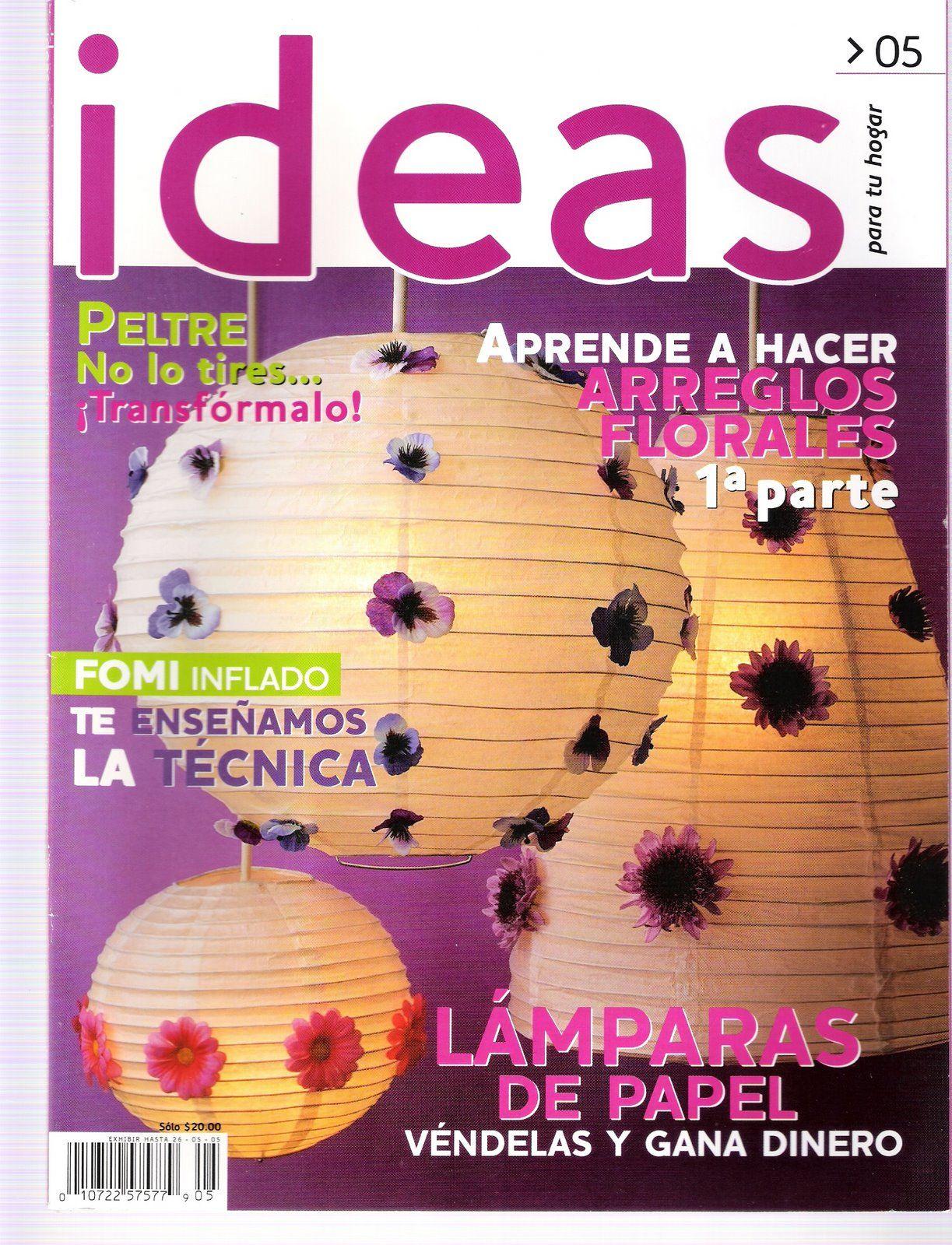 revista ideas para tu hogar televisa 3 manualidades