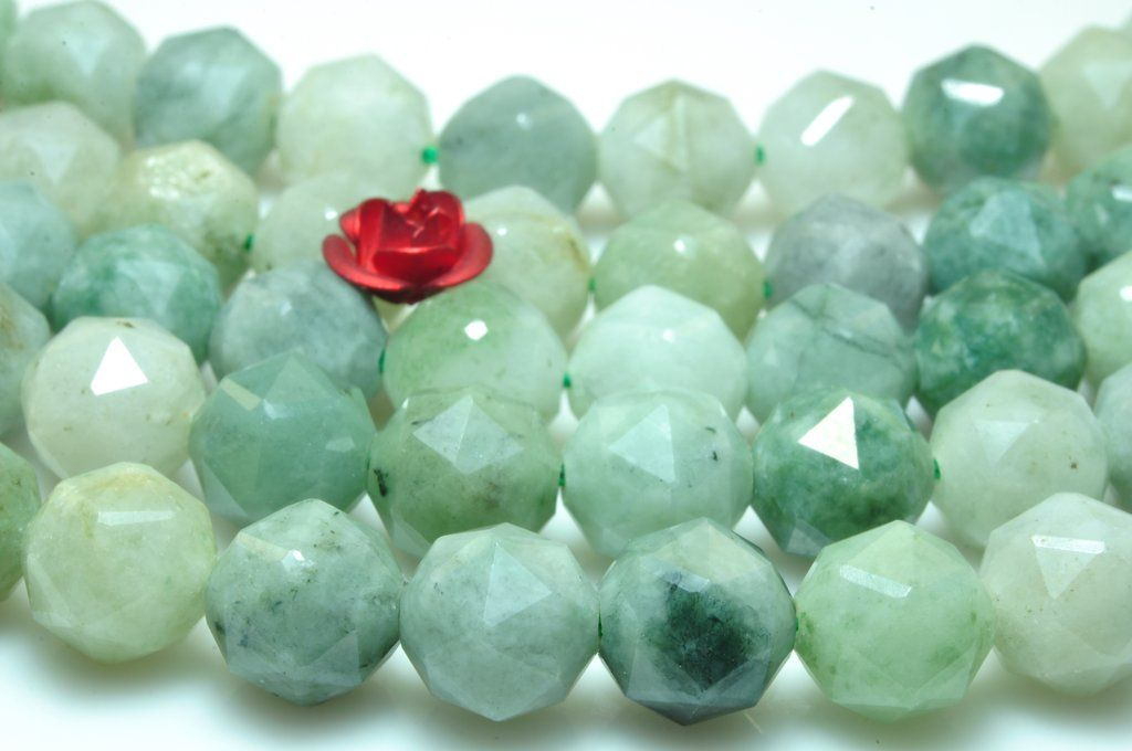 "15/"" Strand Green Jade Gemstone Smooth Rounds 10mm Approx 38 Beads"