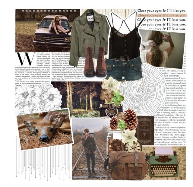 """""""Say something, say something, Something like you love me"""" by indie-by-heart ❤ liked on Polyvore featuring NLXL, Acne Studios and True Religion"""