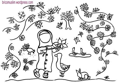 Coloriage Islam.Coloriage Islam Colouring Musulmane Little Muslim Coloriages