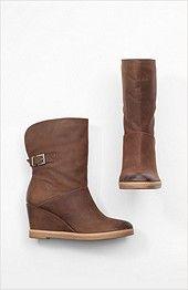 wedge-heel cuffed booties from J.Jill. Love them!
