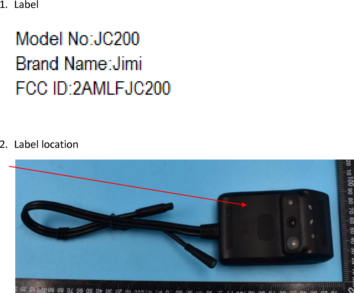 Shenzhen Jimi IOT Co , Ltd A Telematics Dashcam with GSM, WCDMA and