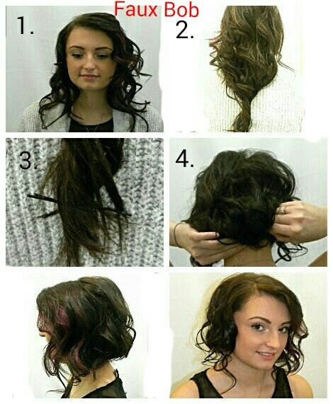 Faux Bob Easy Quick Style Fun For A Night Out Short Hairstyles