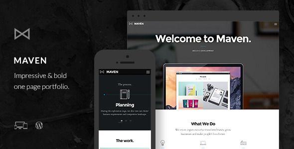 Maven - Responsive Portfolio WordPress Theme