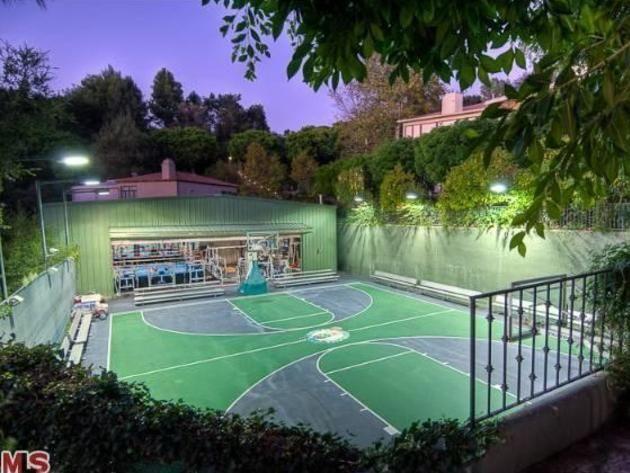 Mark Wahlberg S Beverly Hills Home Sport Court Outdoor Basketball Court Indoor Basketball Court Sport Court
