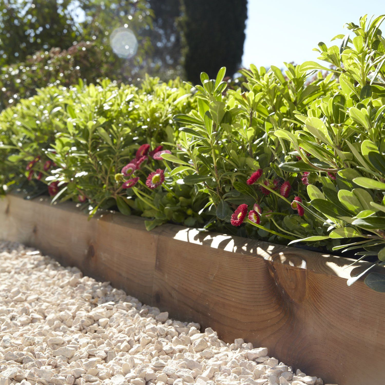 Bordure à planter Kuhmo bois marron, H.20 x L.120 cm ...