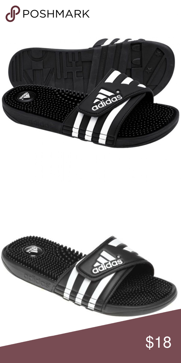 newest a9ed4 71689 ADIDAS adissage slides Like new only worn once. They are perfectly airy,  comfy and on trend. They are a youth size 5 but fit a womens 6 12. Adidas  Shoes ...