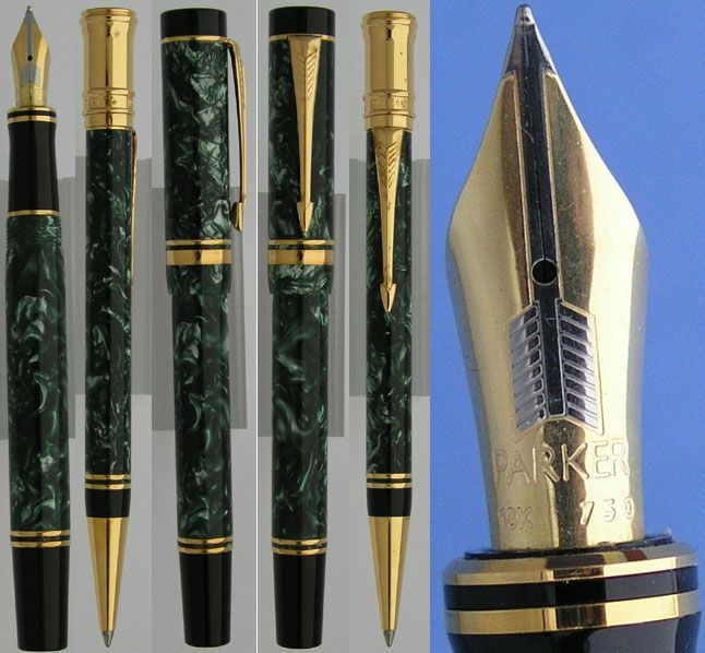 Parker duofold green jade fountain pen and ballpoint pen set  #sundays #menswear