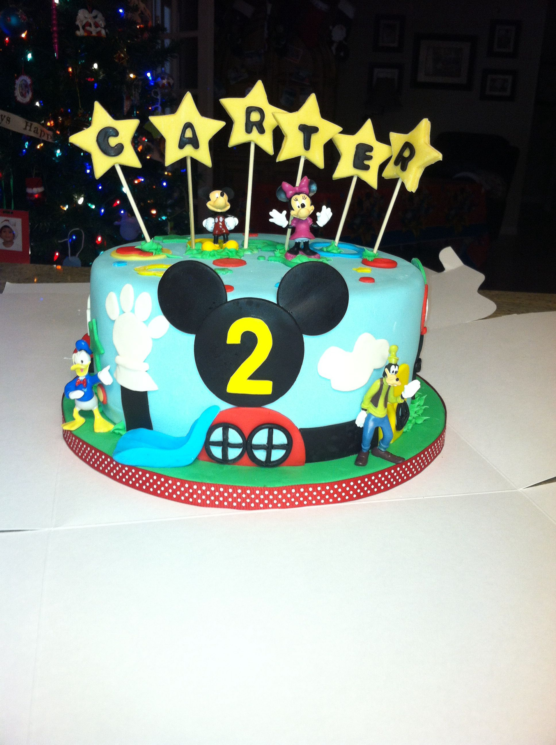 Mickey Mouse Clubhouse Birthday Cake Carter 2nd Birthday Mickey