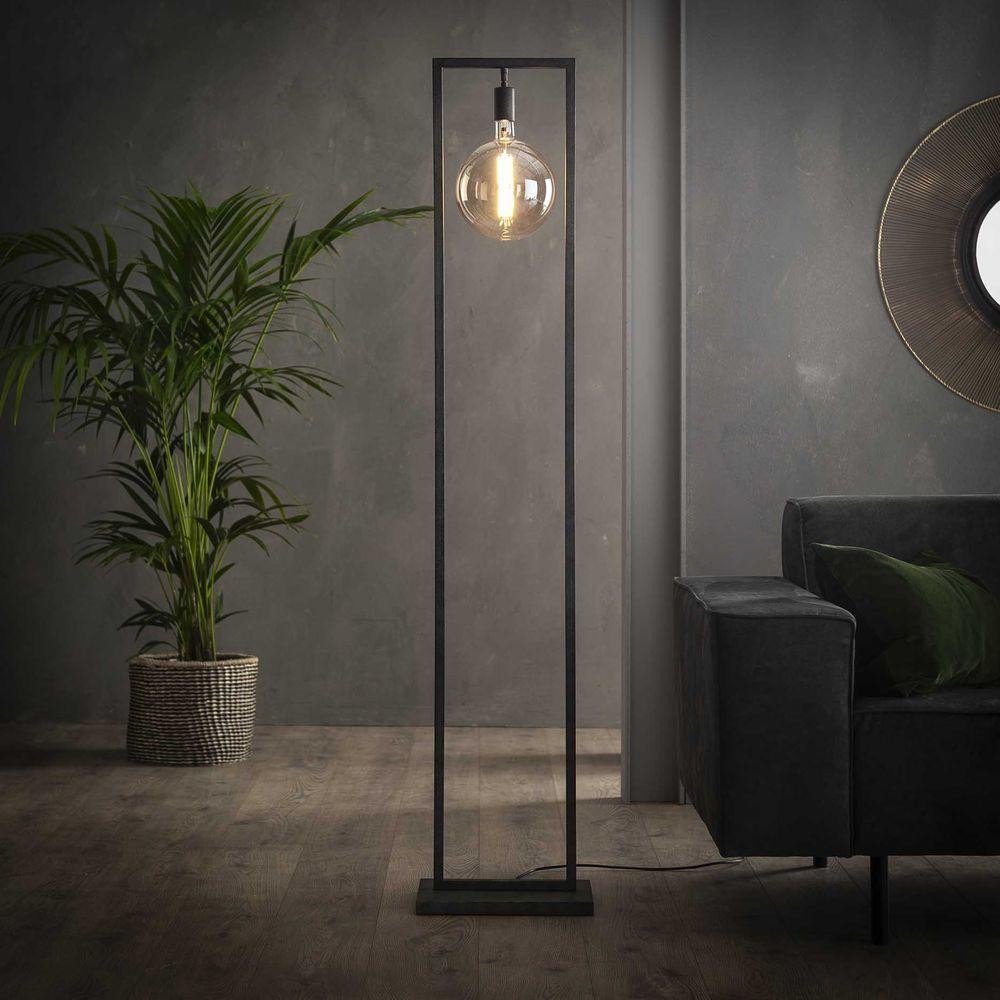 Famlights Stehleuchte Ilay Aus Metall In Schwarz Silber E27 Famlights Cli 365388 In 2020 Stehlampe Dekorative Lampen Lampe