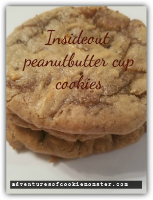 Soft peanut butter cookies filled with chocolates...yum!