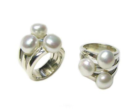anillos con perlas - Buscar con Google