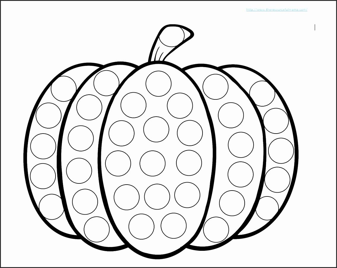 Do A Dot Art Free Printables Whaeb Beautiful Pumpkin Do A