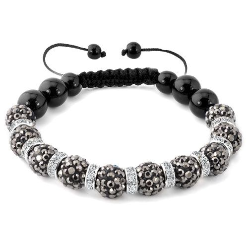 Bracelets Shamballa Bracelet Gray Swarovski Elements Cz Crystal Stone Disco Balls Beaded Bracelets Image Inspiratio Beaded Bracelets Inspirational Bracelets