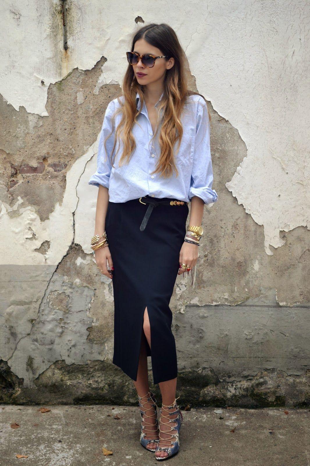 Maja Wyh | Men's Shirt + Pencil Skirt