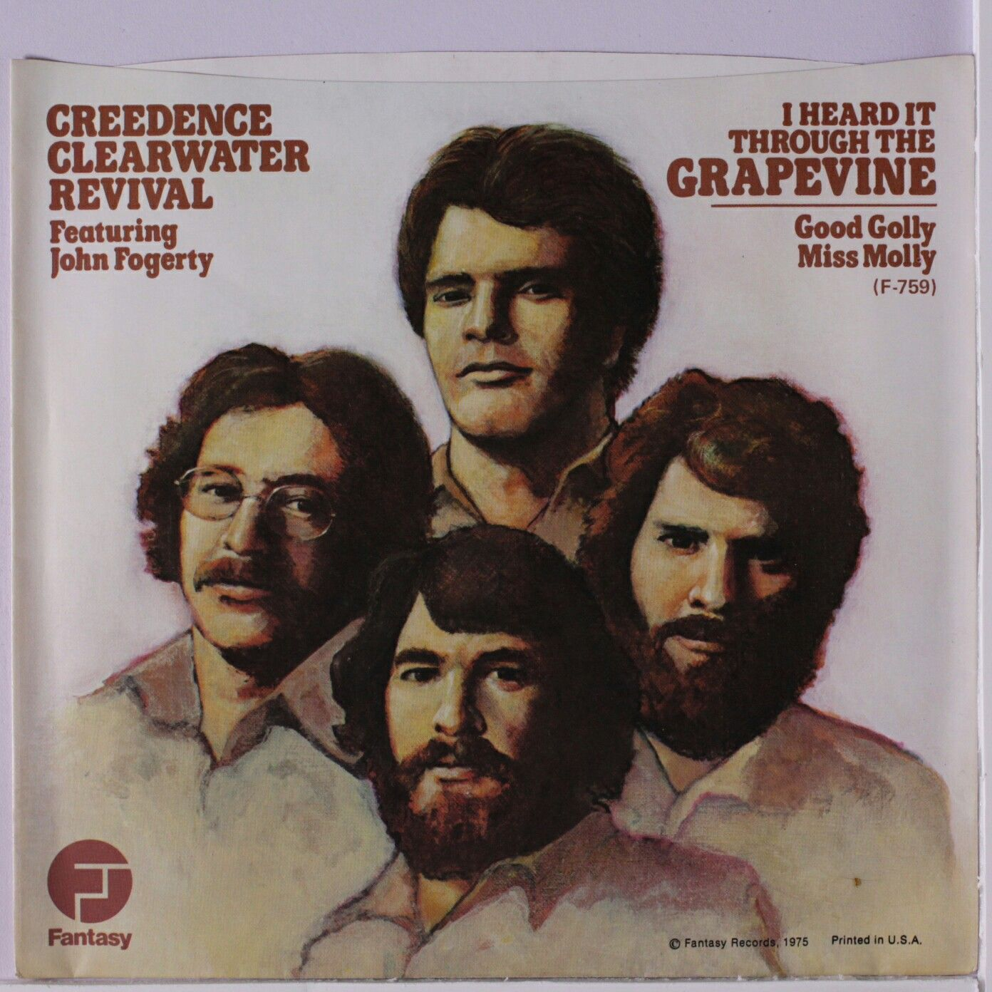 """#44. """"I Heard It Through The Grapevine""""  ***  Creedence Clearwater Revival  (1970)"""