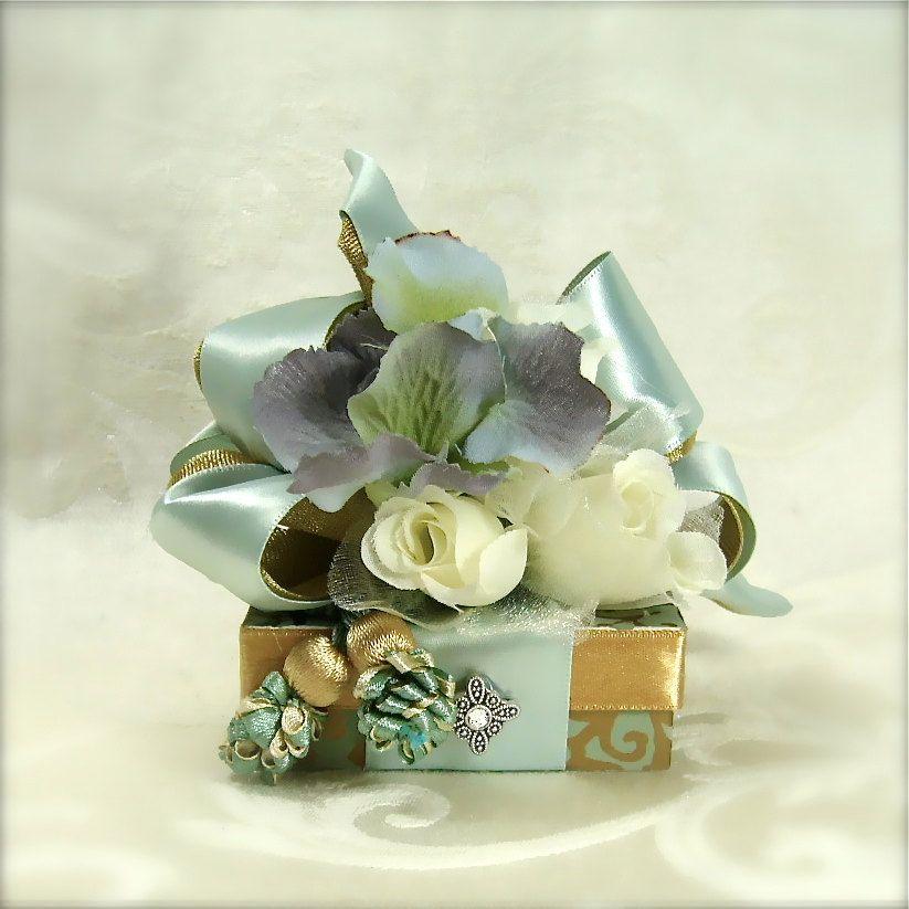 Seafoam Green Wedding Ideas: Wedding Favor Box Gift Ideas For Money