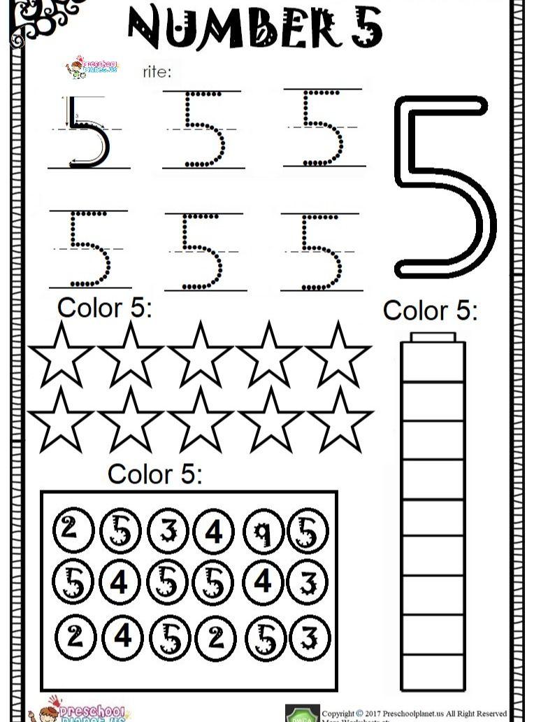 Number 5 Worksheet Pdf Numbers Preschool Kids Learning Numbers Kindergarten Worksheets