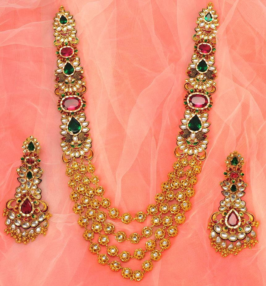 Product Name : EXCLUSIVE STONE NECKLACE SET Category Name ...