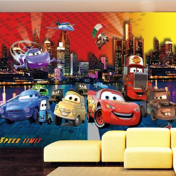 3d Cartoon Lightning Mcqueen Cars Wallpaper For Kids Room Kids