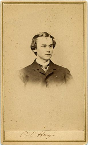 John Hay, taken in the Summer of 1862 by Walker at the Treasury Deparment