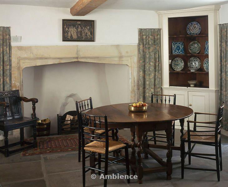 Kelmscott Manor Home Of William Morris Gloucestershire England The Dining Room
