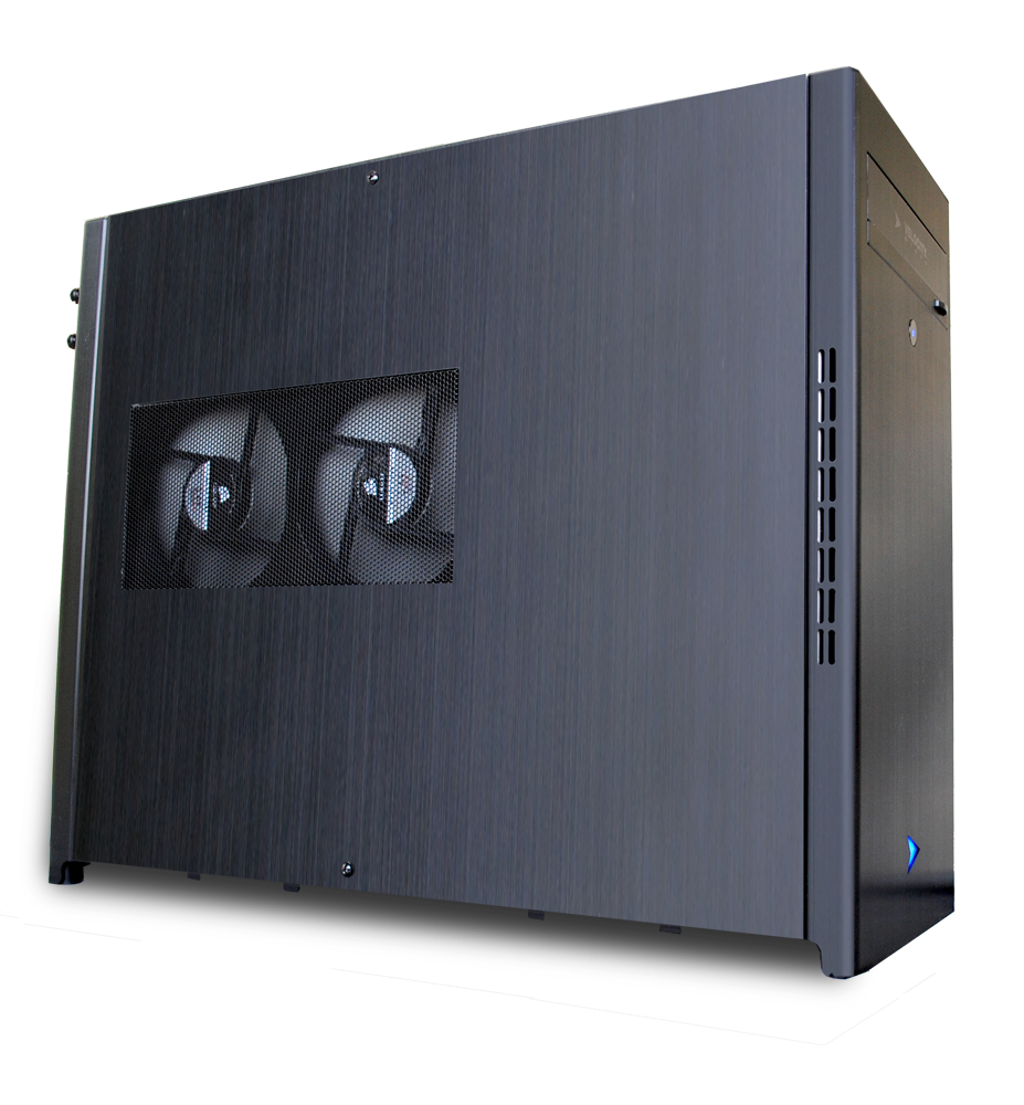 Our new mATX chassis with 240mm closed loop liquid cooling!