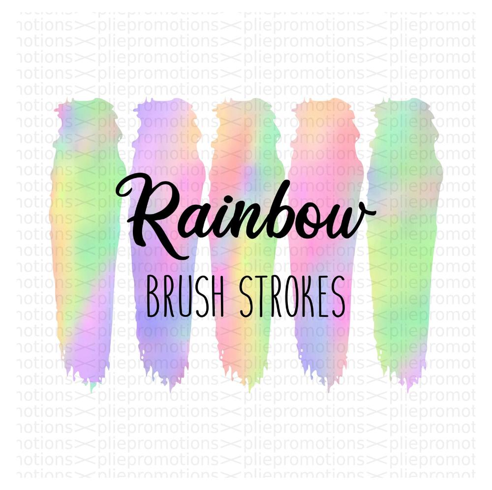 Tie Dye Brushes Brushstroke Png Brush Stroke Png Pastel Etsy Rainbow Png Clip Art Brush Strokes