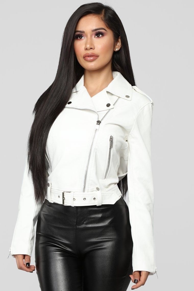 This Babe Is Fire Moto Jacket Ivory SHARE 59.99 USD
