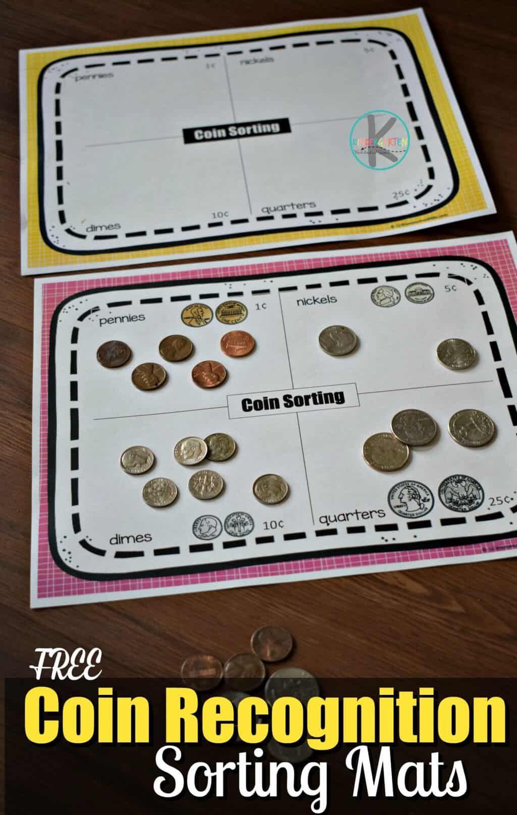 Coin Sorting Worksheets Kindergarten