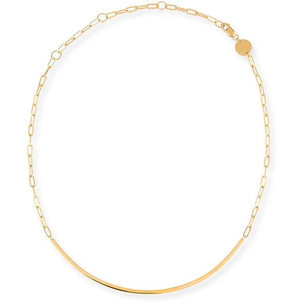 Jennifer Zeuner Cecelia Golden Chain Collar Necklace cqSo9k5