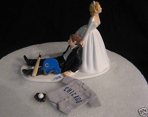 Chicago Cubs BASEBALL Grooms Cake Topper Wedding MLB By