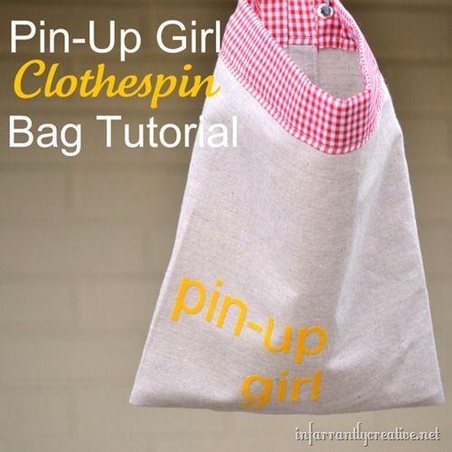 Clothespin Bag Tutorial | Pinterest | Wäscheklammerbeutel ...