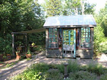 Adirondack Style Inside Out Rustic Garage And Shed Other Metro Art Gems Backyard Retreat Backyard Shed Design
