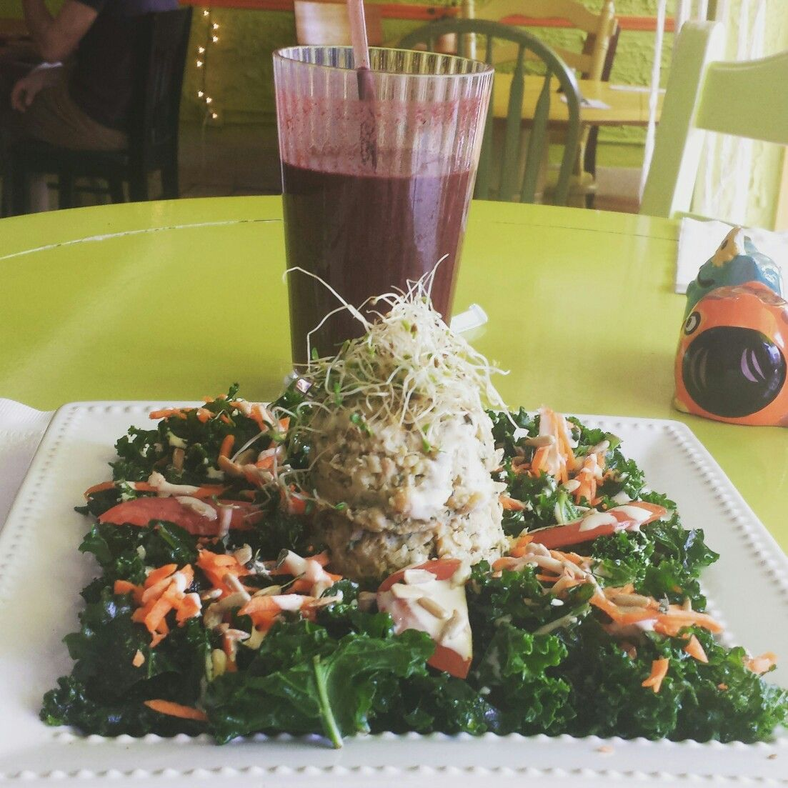 Vegan Tuna And Kale Sandwich At Eat The Tea Cafe In Fort