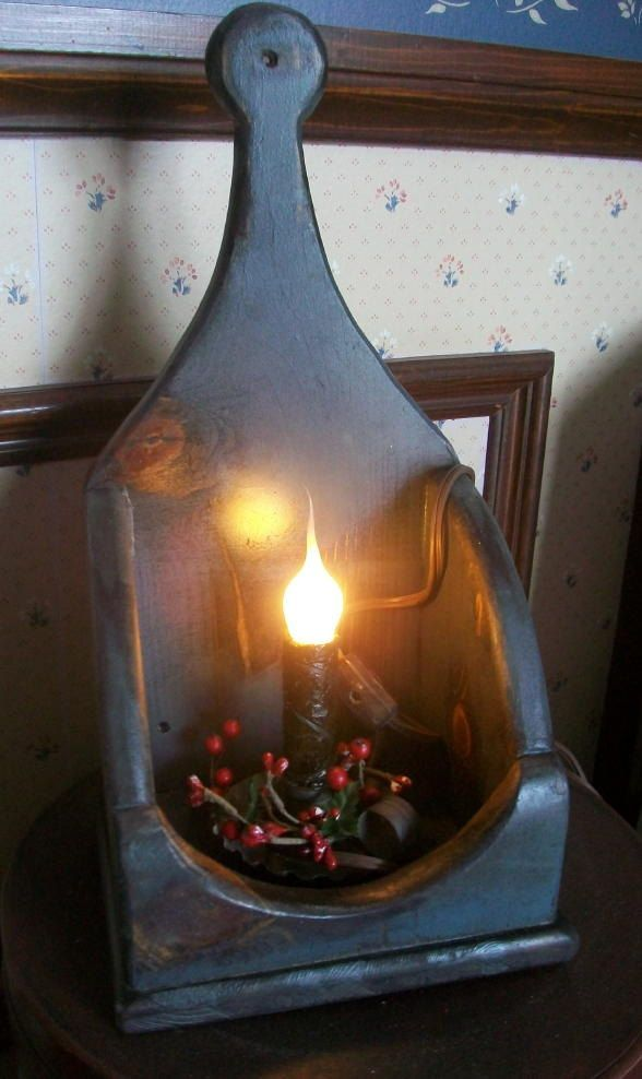 Primitive Colonial Dorchester Collection  Candle Box Sconce - ANY COLOR. $36.95, via Etsy.