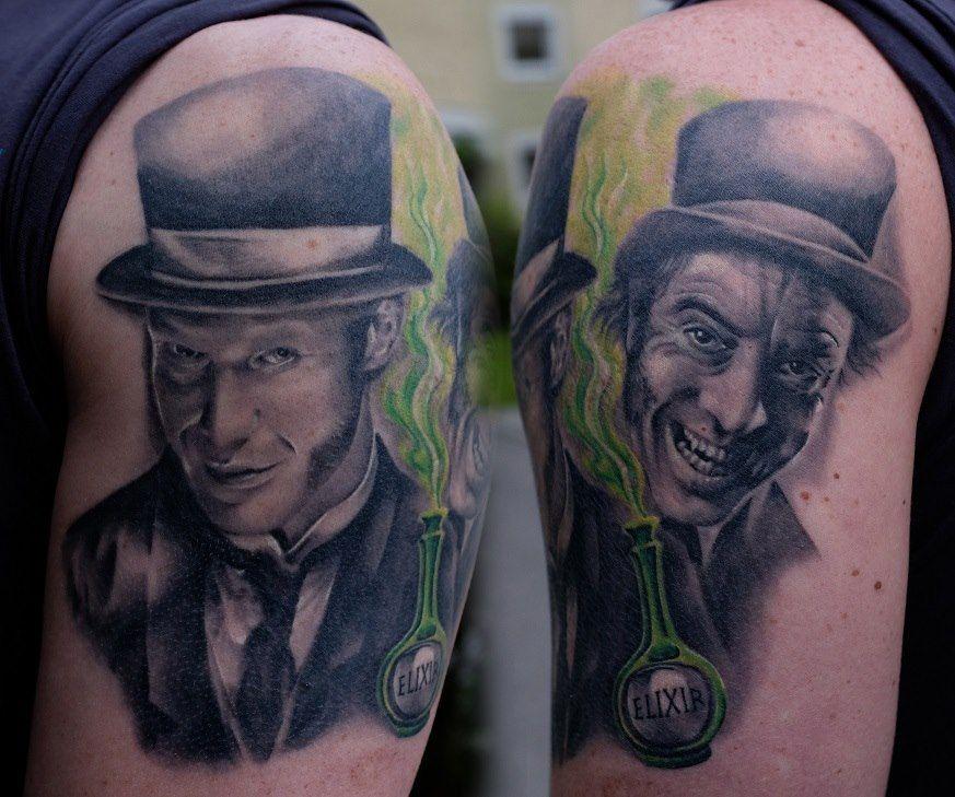 Realistic portrait tattoo -tattoo anansi munich(Tattoo Anansi)
