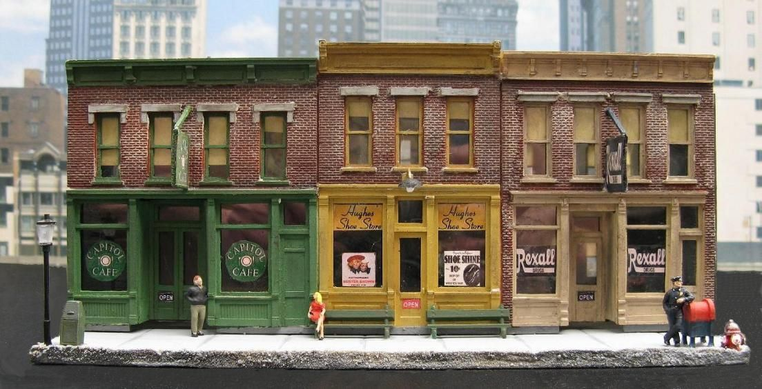 Merchant's Row HO Scale Miniature Building | HO Scale ...