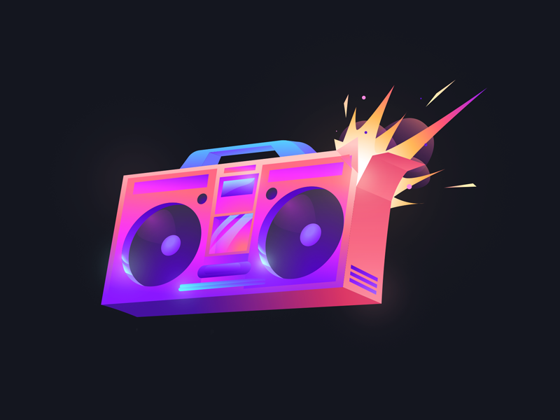 Boombox Boombox Band Posters Retro Waves