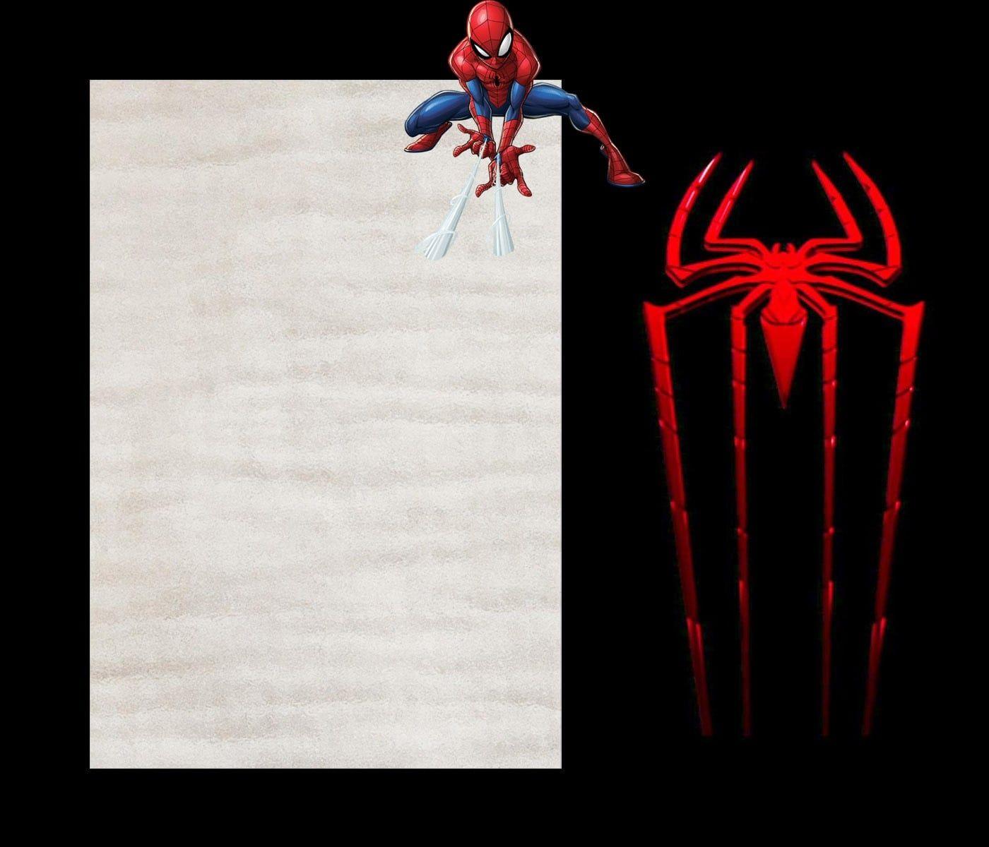 free spiderman invitation templates